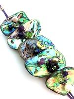 Embellished Paua Bracelet Violet and Lime Bracelet