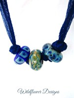 Blue on Blue Silk Fairy Ribbon
