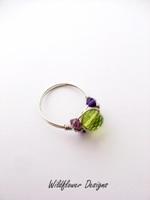 Green Crystal Wrap Ring