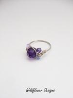 Purple Crystal Wrap Ring