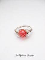 Padparascha Crystal Wrap Ring