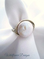 Coin Pearl Wrap Ring