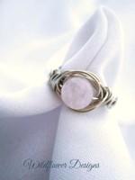 Rose Quartz Round the World Ring