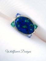 Lapis Malachite Wrap Ring