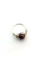 Burgundy Pearl Wrap Ring