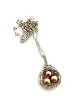 Birds Nest bronze pearl