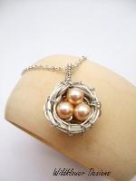 Pale Peach Nest Necklace