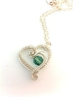 Hearts Delight with Erinite Crystal (Silver Filled)