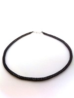 Knitted Tube Necklace Purple