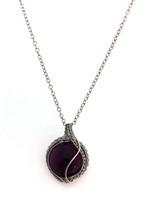 Ovoid Lampwork Purple