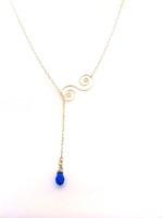 Summer Necklace - Blue Crystal Drop