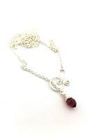 Summer Necklace - Amethyst Crystal Drop