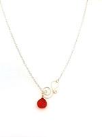 Summer Necklace - Cherry Quartz Crystal Drop