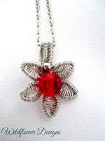 Ruby Bloom Necklace