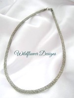 Knitted Wire Tube - Silver