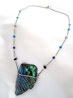 Laced Paua Necklace - Purples and Aquas
