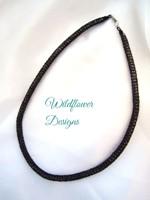 Plum Knit Tube Necklace