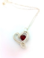Hearts Delight with Dark Red Crystal